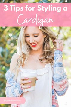 I know most of you don't think that cardigans are very chic. They're an afterthought! But I'm here to tell you that they can be chic! Here are my 3 tips for styling your cardigan so it's the main focal point of your outfit! #cardganoutfit #howtostyleacardigan #cardigan #cardiganchic