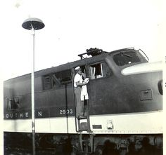 my husband's grandfather who was a fireman and then Engineer for Southern Railway for 44 years Railroad History, Southern Railways, Diesel Locomotive, N Scale, Trains, Transportation, Rocks, Engineering, American