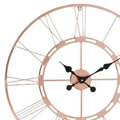 Highlight the luxurious lilt of your aesthetic with the copper metallics of the Jax Wall Clock, Large, 101cm (Set of 2) from Amalfi in your home.
