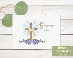 Printable Religious Card, Blessings To You, Digital Download Congratulations Baby Boy, Printable Cards, Printables, Birthday Cards, Happy Birthday, Retirement Cards, New Baby Cards, Thank You Cards, Blessings