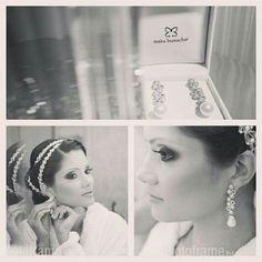 A noiva linda @welidasalles com brincos #mairabumachar #noivasmb #bride