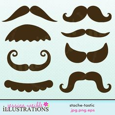 Mustache Party   ... : Stache-Tastic Cute Printable Mustache Birthday Party Favors - Dress