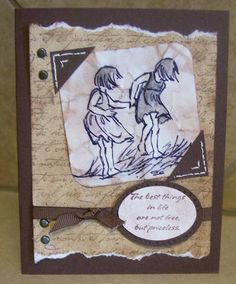 Old Photo My Sister and I using Stampin Up Seaside Sketches