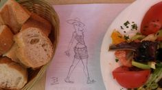 """http://evpo.st/1khBszS """"Girl among salad and bread"""" #sketch #characterdesign (C) Fabrizio Lorito 2014"""