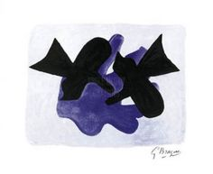 Artist - Georges Braque. Title - Astre et l'oiseau (serigraph). Also known as silk screening, serigraph is a process by which multiple layers of ink are manually pressed through fine screens, resulting in an art print that resembles a painting on paper. | eBay!