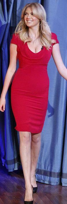 Short sleeve red dress