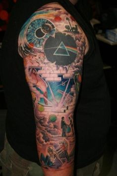 Pink Floyd awesomeness, i want a winding sleeve of pink floyd for my daddy RIP <3