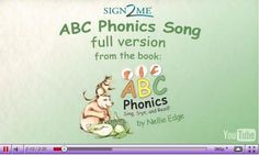 VIDEO - ABC Phonics Song - Full ASL Song Tutorial Video.Enjoy 5 instructional UTube videos generously provided by Sign2Me Early Learning. Use fingerspelling with any ABC phonics program for powerful results.