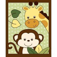 Shop Safari Jungle Monkey Nursery Wall Art Print created by little_prints. Zebra Nursery, Monkey Nursery, Animal Nursery, Nursery Wall Art, Canvas Wall Art, Wall Art Prints, Nursery Canvas, Animal Posters, Jungle Theme