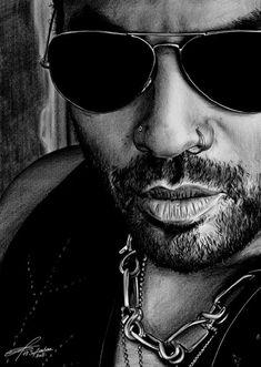 Lenny+Kravitz+by+greg-drawings