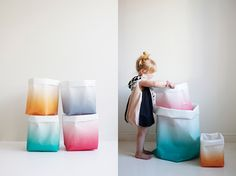 sacks from Varpunen by AMM blog how cute would these be as hampers. perfect!