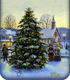 belles images anim e noel new - Page 7 Christmas Scenery, Christmas Past, Christmas Pictures, Christmas Greetings, Winter Christmas, Xmas, Outdoor Christmas, Illustration Noel, Christmas Illustration