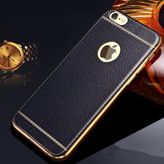 Luxury Ultra Thin Retro Leather Pattern Phone Case For iPhone 5 SE 6 Plating Soft TPU Silicone Cover for iphone 7 Iphone 7 Phone Cases, Mobile Phone Cases, Used Iphone, Iphone 5s, Apple Iphone, Iphone 8 Plus, Iphone Models, Galaxy, 6s Plus