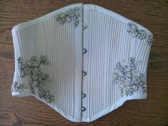 corded corset | Fully Corded Waist Cincher Corset by JLCorsets on Etsy, £150.00