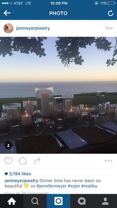 Tablescape with candles Jennifer Meyer, Tablescapes, Reception, Candles, Beautiful, Instagram, Table Scapes, Candy, Candle