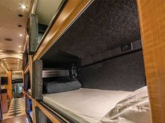 Picture of sleepbus interior.  Overnight bus from LA to SF and back for ~$50 per way