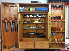 4 Easy And Cheap Useful Ideas: Woodworking Tools Workshop Popular Mechanics woodworking tools storage dads.Woodworking Tools Saw Projects handmade woodworking tools. Woodworking Tool Cabinet, Essential Woodworking Tools, Antique Woodworking Tools, Woodworking Organization, Garage Organization, Woodworking Bench, Woodworking Shop, Woodworking Crafts, Woodworking Beginner