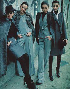 "surrealdiamonds:  ""Coats Parade"" / Vogue China 12/08Ph. Feng Hai"