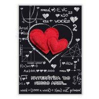Cartão Romântico Artesanal G Matemática do amor