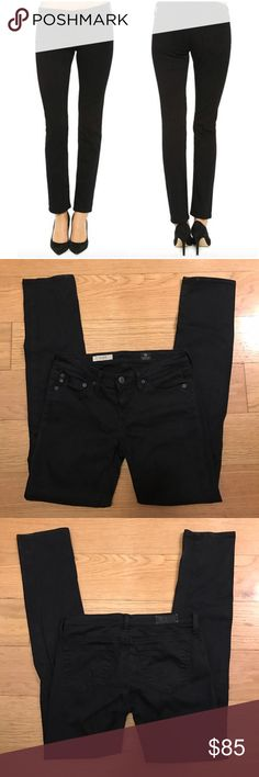 """AG 'The Stilt' Cigarette Jeans in Black Adriano Goldschmied 'The Stilt' Cigarette Jeans in Black. -5-pocket styling.  -Single-button closure.  -80% cotton, 15% modal, 5% polyurethane. -Inseam: 28"""" -Made in USA. -Excellent condition.  NO Trades. Please make all offers through offer button. AG Adriano Goldschmied Jeans Skinny"""