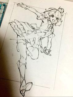 Linda personagem sangrando o requadro para aumentar a profundidade da ilustração. Um efeito simples e muito eficaz.