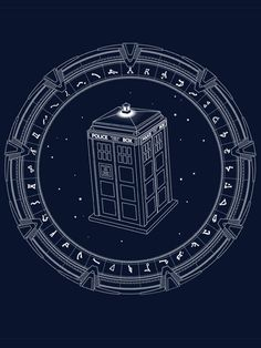 Tardis/Stargate Where is one to pin this? Doctor Who? <<< Stargate,,, stargate always trumps Crossover, Doctor Who Art, Fandoms Unite, Torchwood, To Infinity And Beyond, Geek Out, Dr Who, Stickers, Superwholock