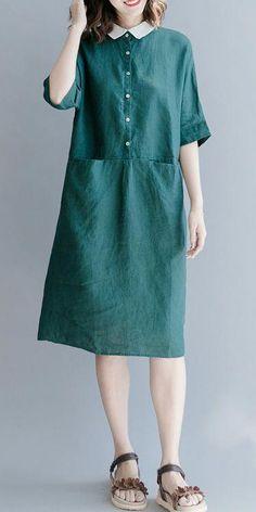Summer dress, Dresses for women, Dark green dress, Dark blue Dresses Women's Dresses, Warm Dresses, Trendy Dresses, Women's Fashion Dresses, Cotton Dresses, Fashion Clothes, Blue Dresses, Bridal Dresses, Casual Clothes