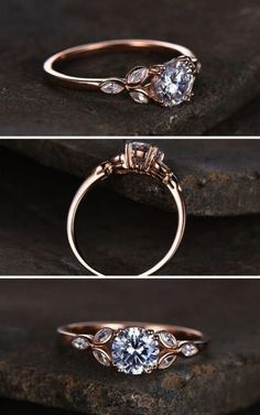 Check this charles and colvard moissanite engagement ring set from Camellia Jewelry. Scrupulously handmade in fine detail, it is a unique wedding ring set that will show her how much you care without breaking the bank. This engagement ring features wh Morganite Engagement, Engagement Ring Settings, Vintage Engagement Rings, Halo Engagement, Minimalistic Engagement Ring, Sapphire Engagement Rings, Swarovski Engagement Rings, Most Expensive Engagement Ring, Unconventional Engagement Rings