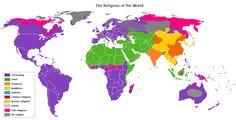Religion distribution - Argumento de las revelaciones inconsistentes - Wikipedia, la enciclopedia libre