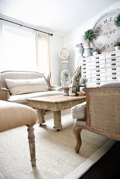 Upstairs Living Room Makeover Rustic Coffee Table