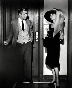 George Peppard & Audrey Hepburn in Breakfast At Tiffany's