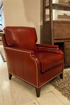 The Ginger Chair Leather Combo from Vanguard Furniture is a classic leather chair.   Luxe Home Philadelphia stocks custom upholstered furniture and fully custom orders are available from our fine furniture manufacturers.  http://www.luxehomephiladelphia.com/Ginger-Chair-Leather-Combo-Vanguard-Furniture-p/oin18854.htm