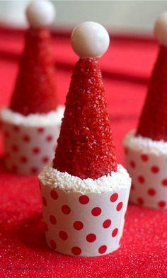 Santa Hat Cupcakes « The Best Cupcake Recipes