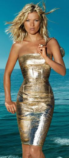 Kate Moss -  Versace - bronze goddess