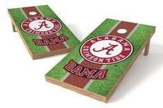 Alabama Crimson Tide Single Cornhole Board - Field