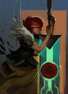 transistor - Red