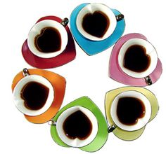 Inside Our Hearts Tea Cups - Multicolored from Yedi Houseware 5 oz $50.00