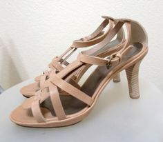 Womens KEY TE Heels Size 7.5/ 38.5 NEW $300 Made in Italy Leather