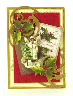 Anna Griffin Vintage Christmas Card