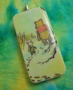 Classic Pooh & Piglet  Domino Pendant Necklace b by Wimzy on Etsy, $5.00