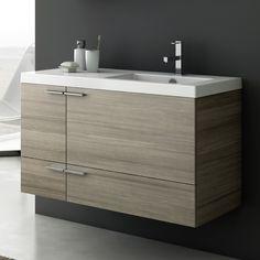 Bathroom Vanity 39 Inch Vanity Cabinet With Fitted Sink ACF Bathroom Vanity Cabinets, Vanity Sink, Bathroom Furniture, Bathroom Storage, Small Bathroom, Wooden Furniture, Bathroom Ideas, Antique Furniture, Outdoor Furniture