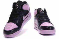 Air Jordan Retro 1 Enfants Black Pink - Rose