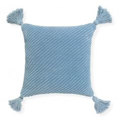 Reflect the cosy feel of your living space with the homely comfort of the tasselled, chenille Cradle Cushion from Rapee. Velvet Cushions, Floor Cushions, Serene Bedroom, Cushions Online, Bedroom Styles, Backrest Pillow, Linen Bedding, Shades Of Blue, Throw Pillows
