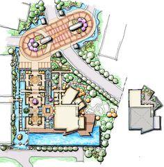 infinity pool landscape design cascading water feature chinese garden landscape clubhouse landscape landscapelayout