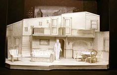 Broadway Bound : Scale White Model > Pennsylvania Centre Stage Brant Pope, Director Barbara Pope, Costume Designer Heather Carson, Lighting Designer Production Photos by William Wellman Stage Set Design, Set Design Theatre, Prop Design, Design Model, Pope Costume, Comic Room, Tech Art, Tiny World, Scenic Design