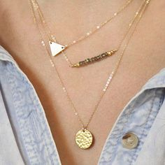 Lauren Triple Chain Layering Necklace (FreeShip)  The perfect multi chain necklace - where the layering has thoughtfully been done for you! A gorgeous piece of accessory.  Material: Alloy  *kindly check below for our sizing guide for a fabulous fit. $ 24