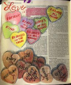 1 Corinthians 13 Love is. Scripture Doodle, Scripture Art, Bible Art, Bible Prayers, Bible Scriptures, Corinthians Bible, Bible Doodling, Bible Illustrations, Bible Notes