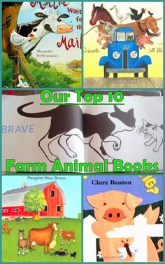 Our Top 10 Farm Animal Books. Farm Animals Preschool Activities.