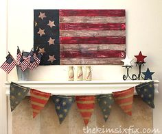 americana inspired memorial day mantle, fireplaces mantels, patriotic decor ideas, seasonal holiday d cor