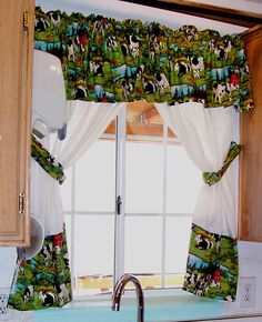 Make kitchen curtains that perfectly match your decor.